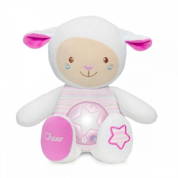 Ovečka s nočnou lampičkou Chicco - ružová