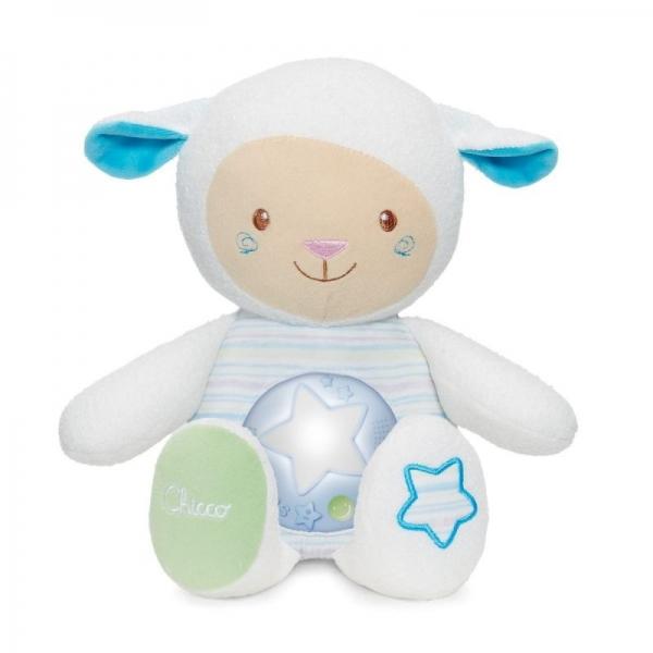 Ovečka s nočnou lampičkou Chicco - modrá