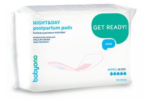 BabyOno Popôrodné vložky NIGHT&DAY - 10 ks