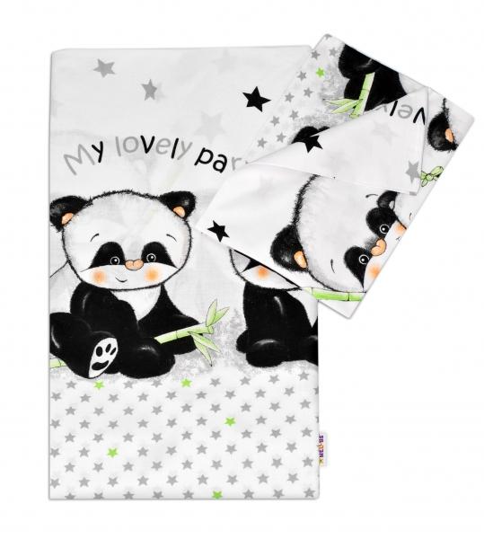 Bavlnené obliečky Panda Baby Nellys, 120x90 cm