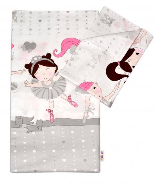 Bavlnené obliečky Princess Baby Nellys - sivá