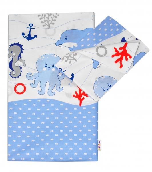 Bavlnené obliečky Oceán Baby Nellys - modrý