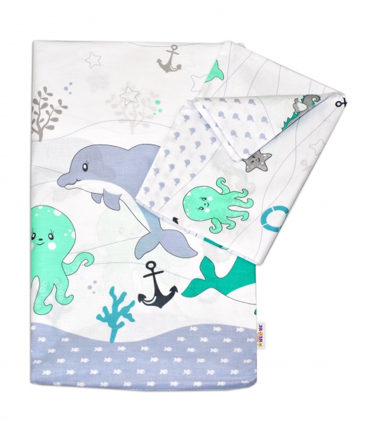 Bavlnené obliečky Oceán Baby Nellys - zelený