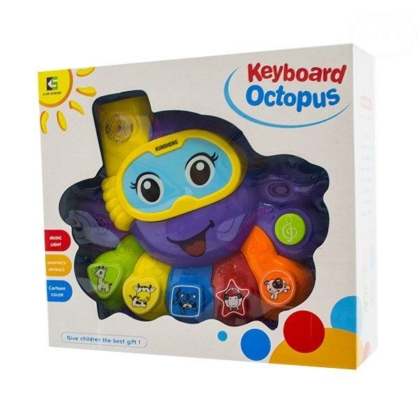 Euro Baby Interaktívna hračka s melódiou - Keyboard Chobotnice - fialová