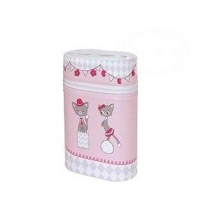Termobox dvojitý CEBA Mačičky - ružové