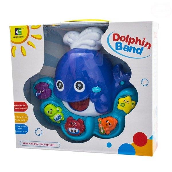 Euro Baby Interaktívna hračka s melódiou - Veľryba - modrá