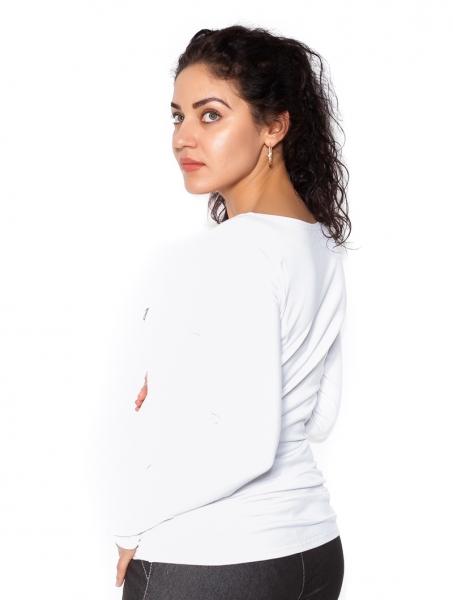 Tehotenské  tričko dlhý rukáv In Love - biele