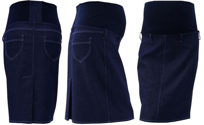 Gregx Tehotenská sukňa jeans SOMI - jeans-XXL (44)