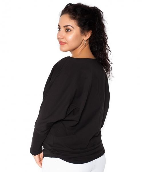 Tehotenská mikina, triko Ananas - čierné