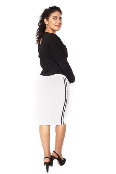 Tehotenská sukňa ELLY - športová - biela