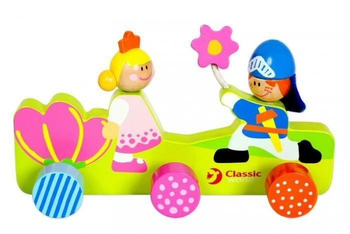 Classic world Drevený detský vešiak - Princezna