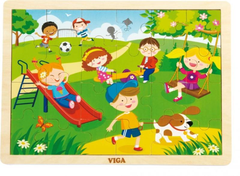 Viga Drevené puzzle Ročné obdobia - JARO