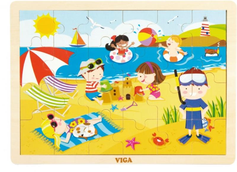 Drevené puzzle Ročné obdobia - LETO