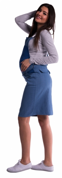 Be MaaMaa Tehotenské šaty / sukne s trakmi - modré