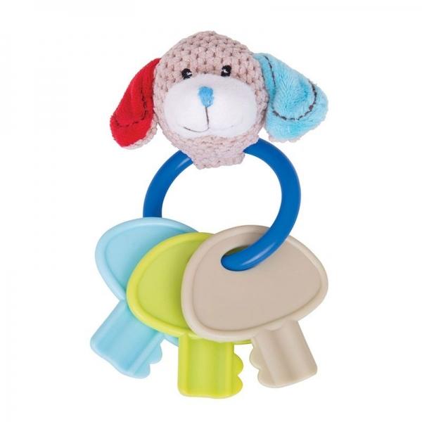 Edukačná hračka psík Bruno s hryzátkom - kľúče