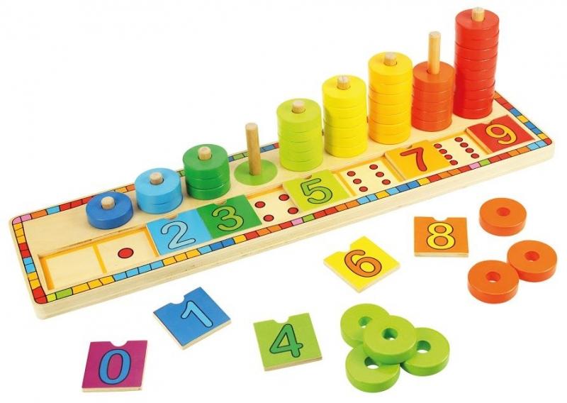 Drevená motorická hračka - počítanie