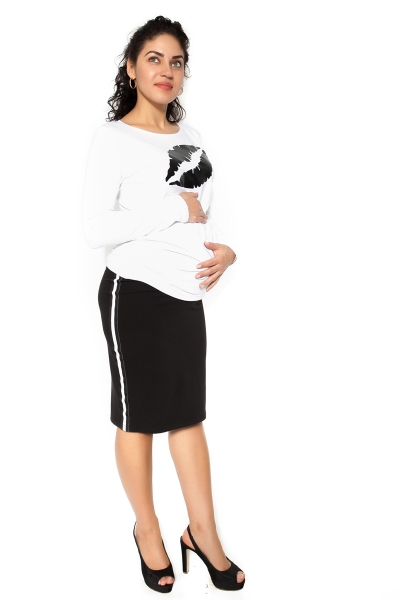 Tehotenská sukňa ELLY - športová - čierna - L-L (40)