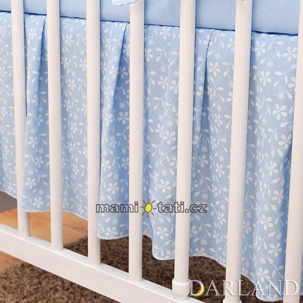 Krásny volánik pod matrac - Kvetinky modré