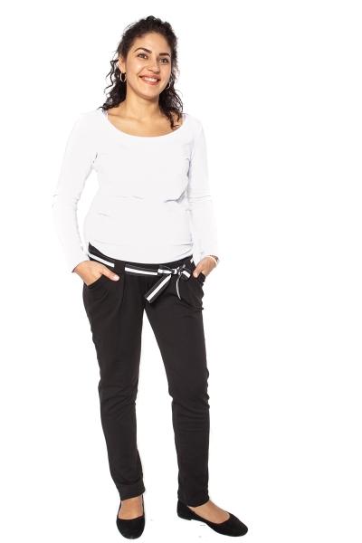 Tehotenské tepláky, nohavice MOMY - čierne