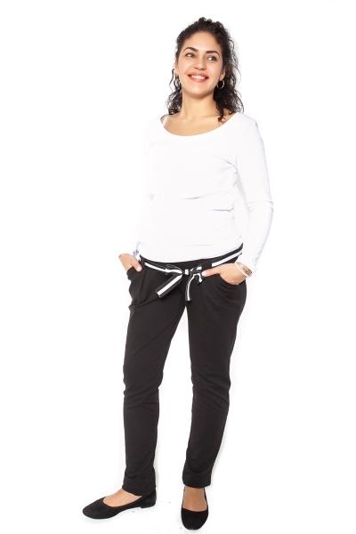 Be MaaMaa Tehotenské tepláky, nohavice MOMY - čierne - XL-#Velikosti těh. moda;XL (42)