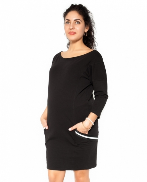 Be MaaMaa Tehotenská šaty Bibi - čierne