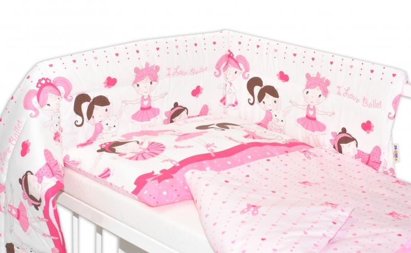 Mantinel s obliečkami PRINCESS Baby Nellys - ružová 135x100