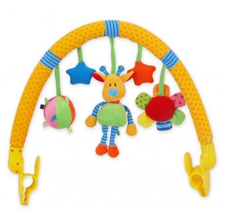 BABY MIX Oblúk s hračkami ku kočíku - Žirafa