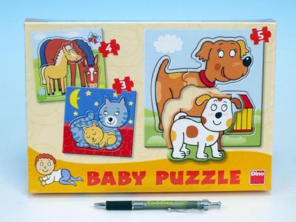 Puzzle baby zvieratka 18x18cm 12 dielikov v krabici 27x19x3,5cm