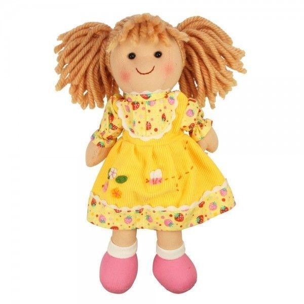 Bigjigs Látková bábika DOMINIKA, 27cm