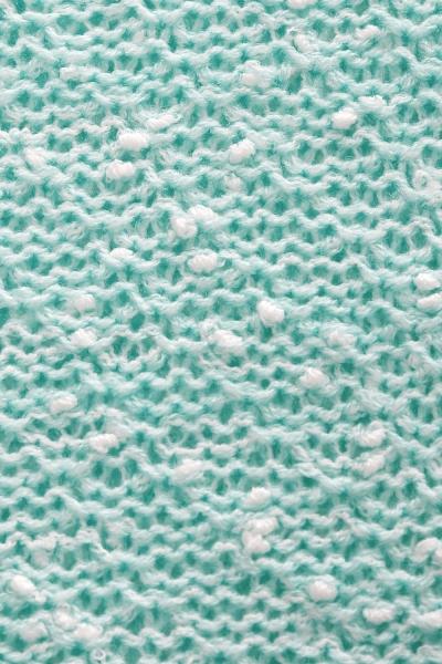 Dlhý perličkový svetrík PENY melírovaný - mätový