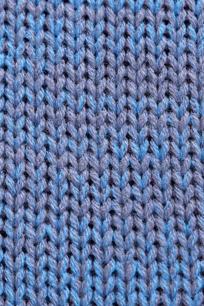 Pletený zavinovaci svetrik MAMI melírovaný - modrý