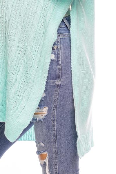 Tehotenský pulóver vhodné aj na dojčenie MAMI - mätový