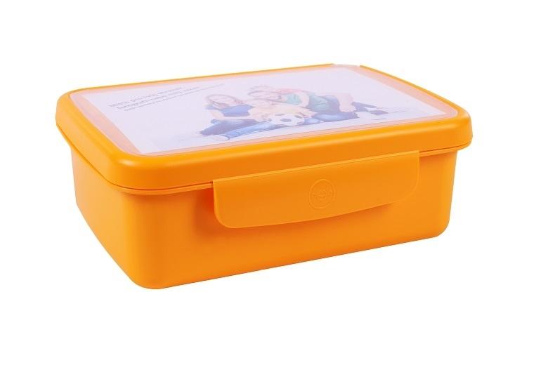 Desiatový box Zdravá desiata - žltý