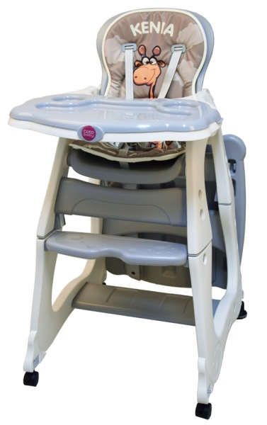 Coto Baby Jedálenská židlička Kenia - siva