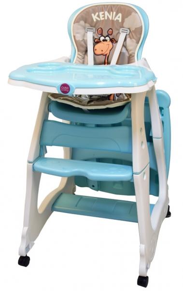 Jedálenská židlička Kenia - tyrkysová
