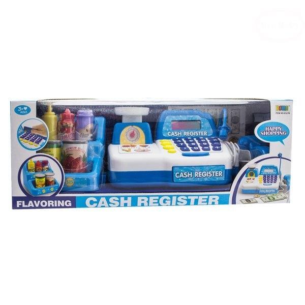 Detská pokladňa s doplnky - modrá