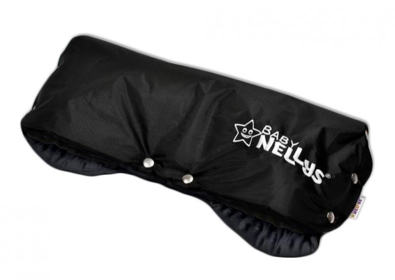 Rukávnik ku kočíku Baby Nellys ® Minky - grafit/čierny