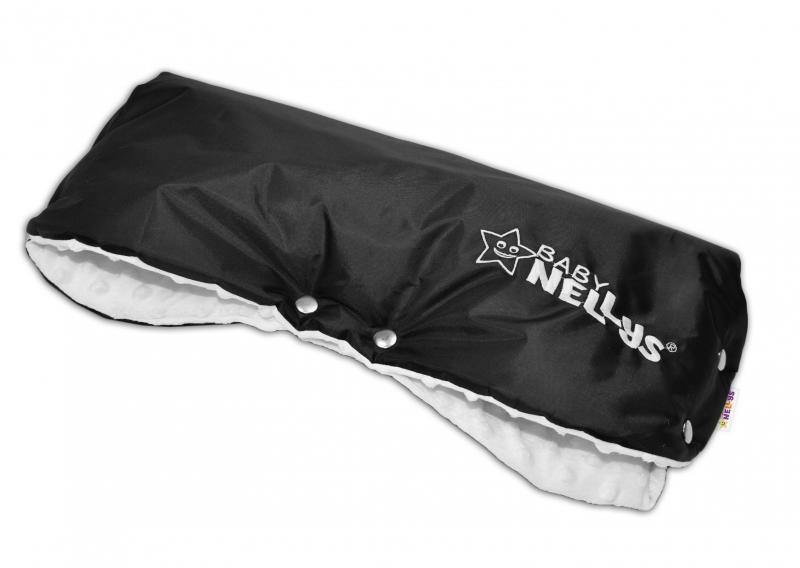 Rukávnik ku kočíku Baby Nellys ® Minky - bielá/čierny