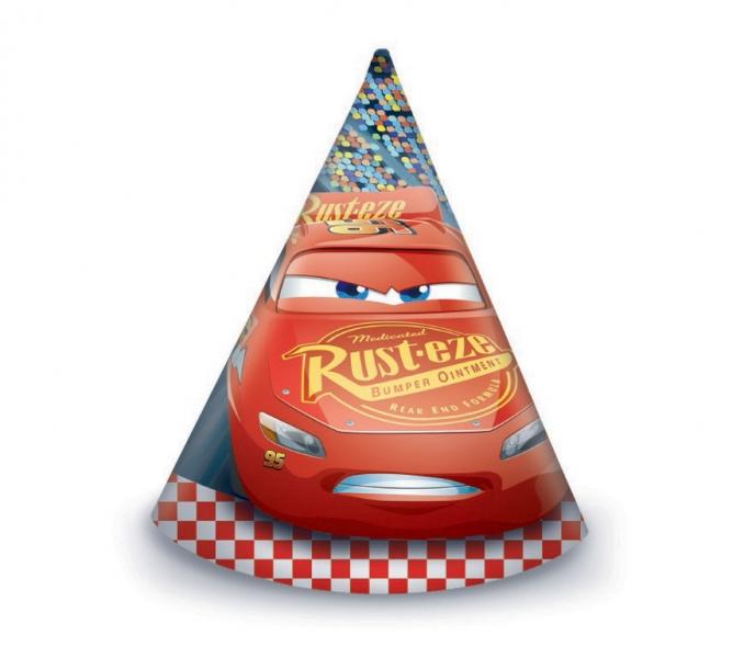 Rappa PROCOS klobúk papierový Cars 6 ks