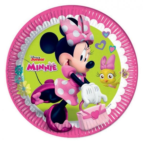 PROCOS talíř papírový 23 cm Minnie 8 ks