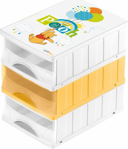 Boxy na hračky - zásuvky Medvedík Pú