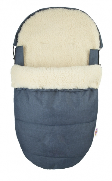 Fusak Delux Baby Nellys ® 105x50cm vlna - jeans