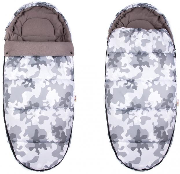Fusák Maxi Baby Nellys ® 105x50cm - Army šedé
