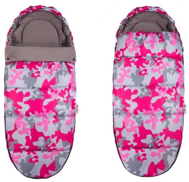 Fusák Maxi Baby Nellys ® 105x50cm - Army růžová