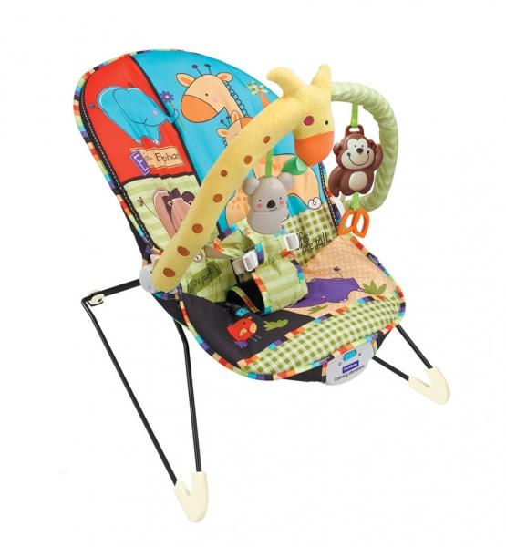 Lehátko, hojdačka pre dojčatá s vibrácií a hudbou - Veselé safari