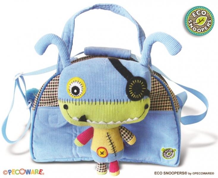 EcoSnoopers Štýlová detská taška Monster - sv. modrá