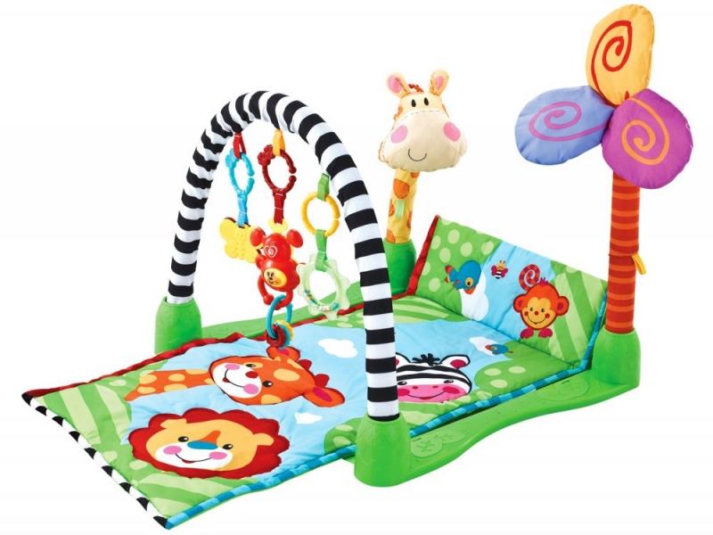 Vzdelávacia hracia deka ECO TOYS - Žirafka