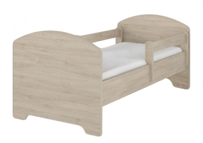 NELLYS Detská postel HELI v farbe svetlého dubu + matrac zadarmo, 140x70 cm