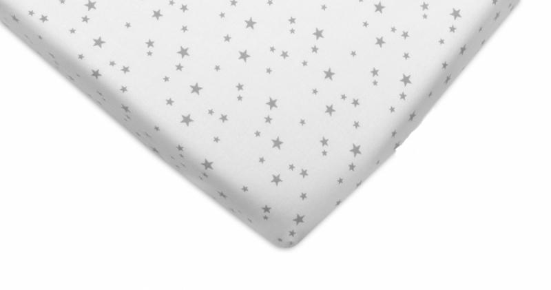 Mamo Tato Bavlnené prestieradlo - Mini hvezdičky sivé