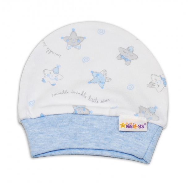 Čiapočka pre predčasne narodené bábätká Baby Nellys ®- Hvezdičky modré